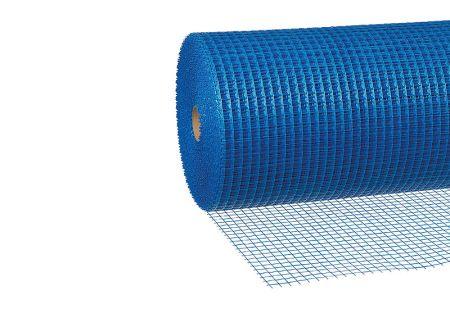 Außenputzgewebe blau, 110 g/m², Rolle 0,5 x 50 m, Maschenweite 12 x 12 mm von Butler macht's!