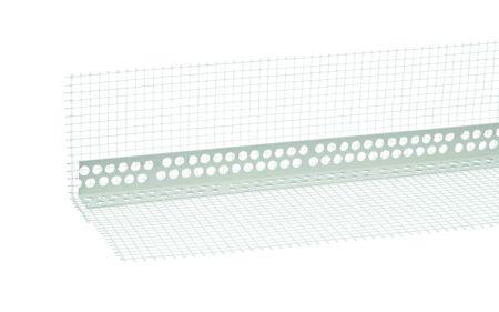 Gewebewinkel weiß, PVC 8/12, Länge 2,50 lfm, Maschenweite 8 x 12 cm von Butler macht's!