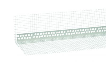 Gewebewinkel weiß, PVC 10/15, Länge 2,50 lfm, Maschenweite 10 x 15 cm von Butler macht's!