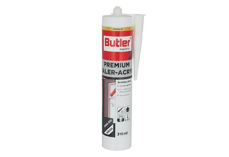 Premium Maler Acryl weiß 310 ml von Butler macht´s!